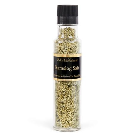 Ramsløg salt i 250 ml. kværn